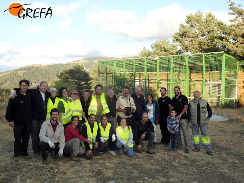 Nuestros voluntarios 'volaron muy alto' en Huerta de Arriba